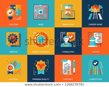 business leadership   colorful flat design style illustration stock photo © decorwithme