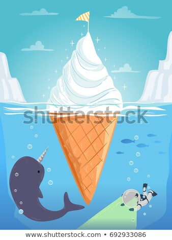 Stickman Kid Narwhal Ice Cream Dive Stock photo © lenm