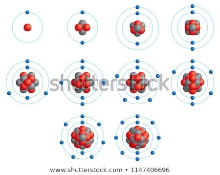 Lítio átomo diagrama ilustração projeto fundo Foto stock © bluering