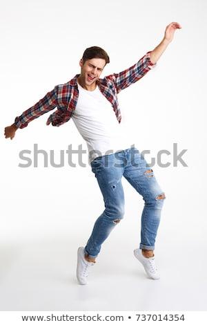 Stock fotó: Modern · fiatalember · tánc · pop · art · retro · klasszikus