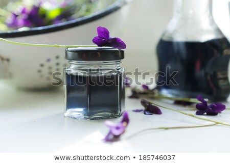 Preparation of a syrup from fresh violet flowers Stock photo © madeleine_steinbach