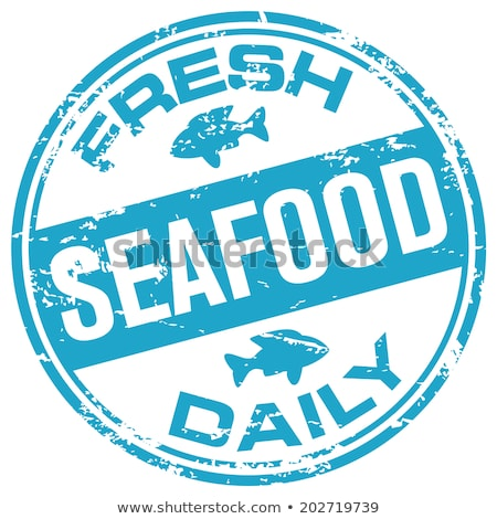Tous les jours fraîches fruits de mer affiche bois poissons Photo stock © colematt