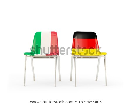 Two chairs with flags of Italy and germany Stock photo © MikhailMishchenko