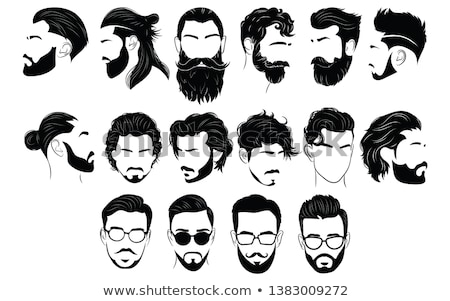 Hair Styling Hairdresser and Barber Set Vector Stock photo © robuart