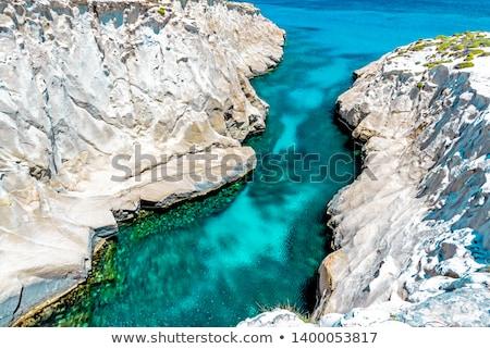 Hullámok tengerpart sziget Görögország kép szeles Stock fotó © taviphoto