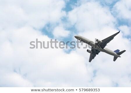 Militärischen Flugzeug weiß Illustration Hintergrund Kunst Stock foto © colematt