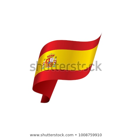 Zászló Spanyolország integet fehér LA izolált Stock fotó © Photooiasson