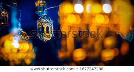ramadan kareem mosque on bokeh light background Stock photo © SArts