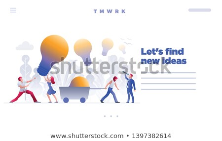 Find and hunt new ideas concept web site design template Stock photo © sgursozlu