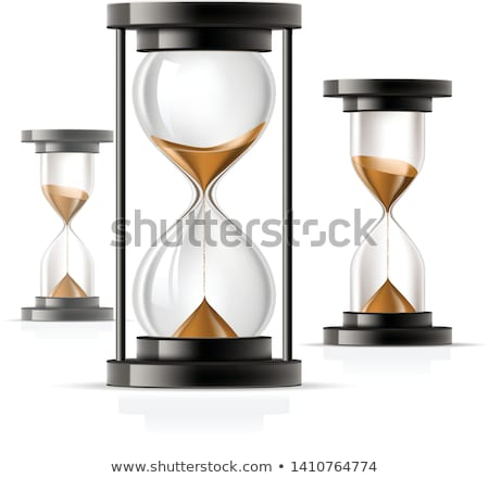 Icon of hourglass - glass sandglass, rounded and straight Stock photo © Winner
