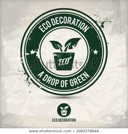 alternative eco decoration stamp stock photo © szsz