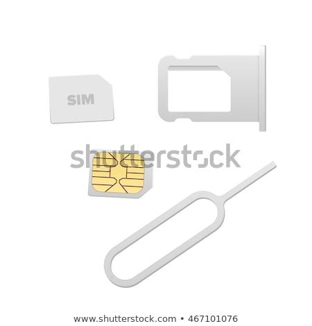nano · cartão · pin · concreto · telefone · segurança - foto stock © andreypopov
