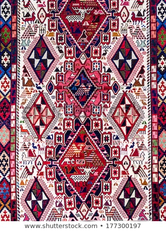 Traditional Georgian carpet with typical geometrical pattern Stock photo © boggy