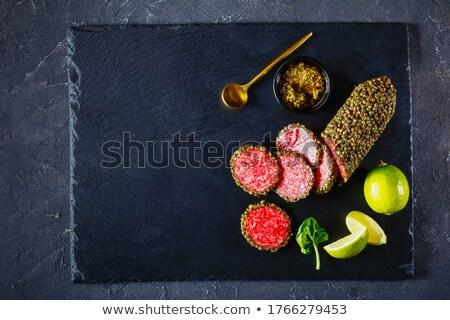 Geheel tabel top voedsel gezond eten Stockfoto © dolgachov