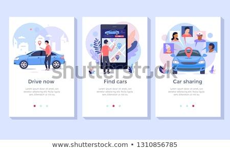 Mobile collaborazione atterraggio pagina imprenditori smartphone Foto d'archivio © RAStudio
