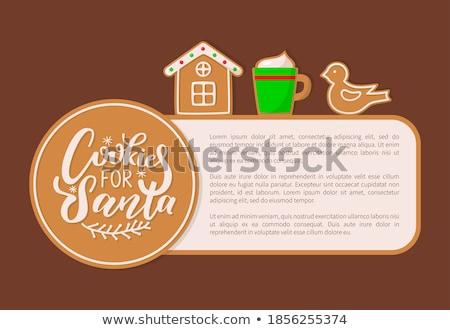 Ptaków cookie piernik christmas uroczystości wektora Zdjęcia stock © robuart