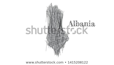 scribble sketch of albania map and country name on white background symbol for your web site design stock photo © kyryloff