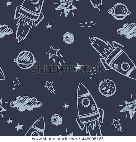 űr · rakéta · retro · űrhajó · szett · ikonok - stock fotó © netkov1