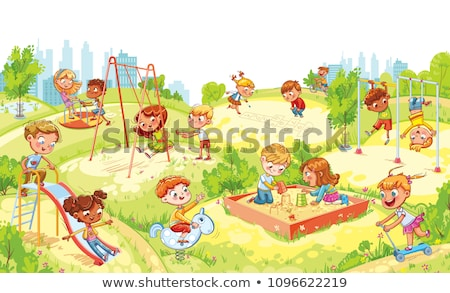little · girl · jogar · pipa · isolado · branco · diversão - foto stock © robuart