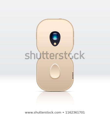 8 digit shaped smartphone for illustrating unknown new design versions stock photo © swillskill