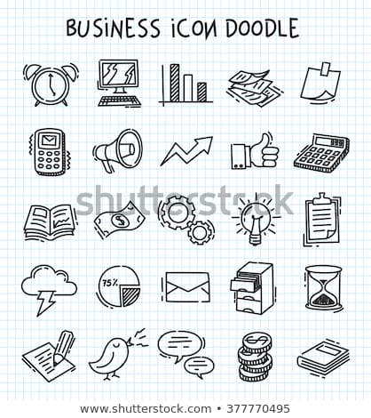 business icons in sketch style stock photo © netkov1