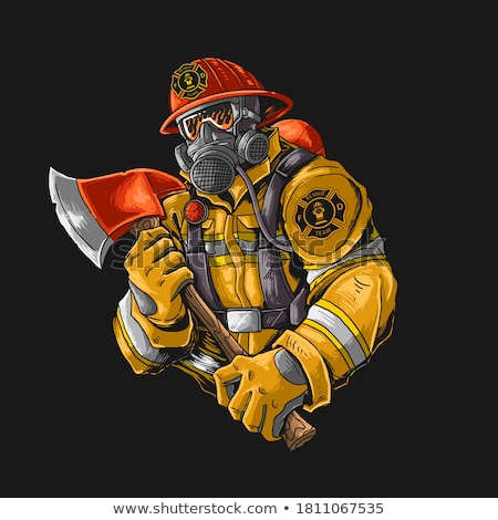 Vintage fireman emblems Stock photo © netkov1