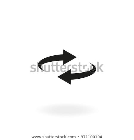 Círculo seta rotação isolado branco botão Foto stock © kyryloff