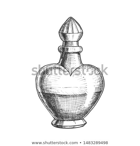 Stock photo: Potion Bottle In Heart Shape Monochrome Vector