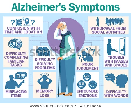 Alzheimer disease concept vector illustration Stock photo © RAStudio