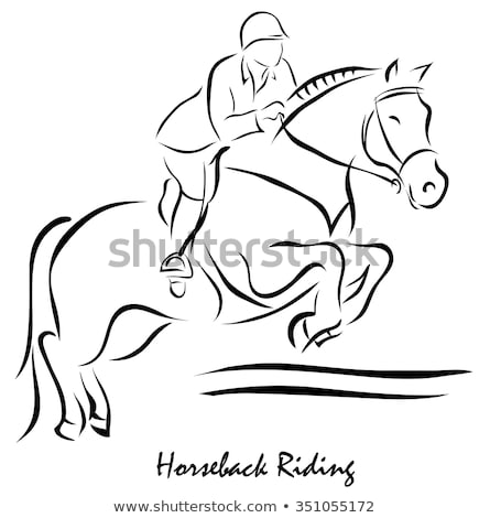 Horse Racing Rider Equestrian Kind of Sport Vector Stock photo © robuart