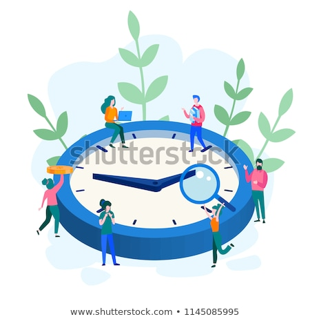 Time Management Web Page, Office Workers and Clock Stock photo © robuart