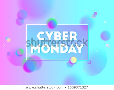 Round Colorful Neon Cyber Monday Sign Stock photo © Voysla