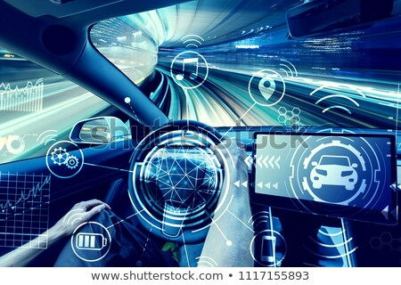 Autonomous car driving in tunnel Stock photo © jossdiim