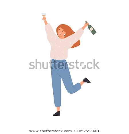 Pezsgő ünnepi ital üveg üveg szín Stock fotó © pikepicture