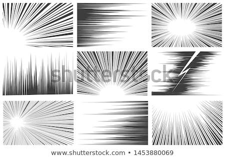 Lineair snelheid lijnen zwart wit komische stijl Stockfoto © SArts