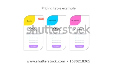 product service subscription plans template zdjęcia stock © orson