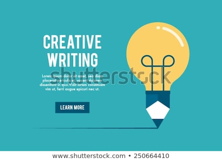 Stock photo: Creative content writing vector concept metaphor.