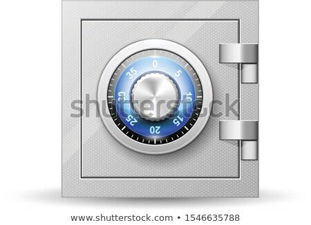 Güvenli kapı şifreli kilit sayılar Stok fotoğraf © Winner