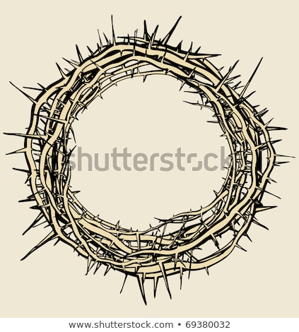 Crown Of Thorns Religious Symbol Retro Vector Stock photo © pikepicture