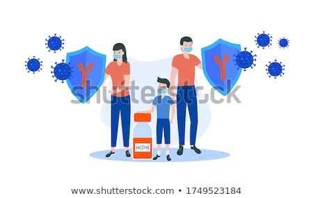 vaccination of adults concept vector illustration stock photo © rastudio