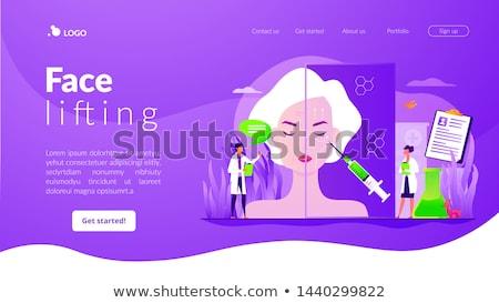 Face lifting app interface template. Stock photo © RAStudio