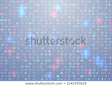 Vector hex code background with highlight an important element, error, memory vulnerability Stock photo © Iaroslava