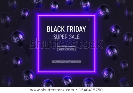 black friday blue neon gift background design stock photo © sarts