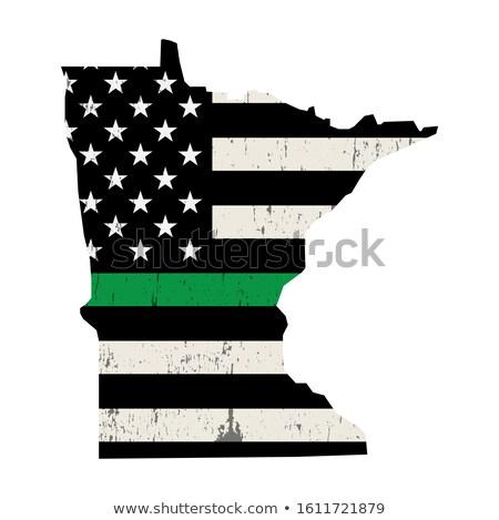 Minnesota katonaság támogatás amerikai zászló illusztráció forma Stock fotó © enterlinedesign