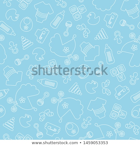 Diaper For Newborn Seamless Pattern Vector Stock photo © pikepicture