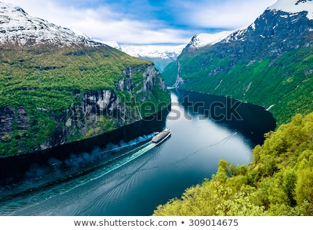 Geiranger fjord, Beautiful Nature Norway. Stock photo © cookelma