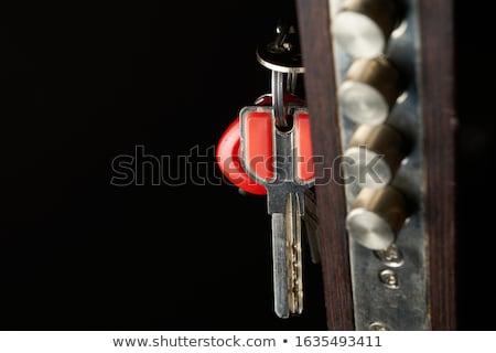 Porte lock touches suspendu porte d'entrée espace de copie Photo stock © alexeys