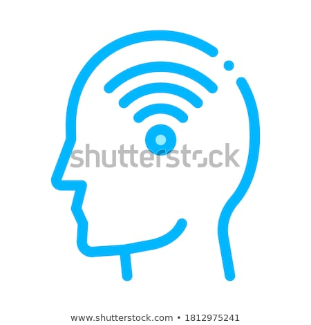 Wifi Symbol In Man Silhouette Mind Vector Icon Stock photo © pikepicture