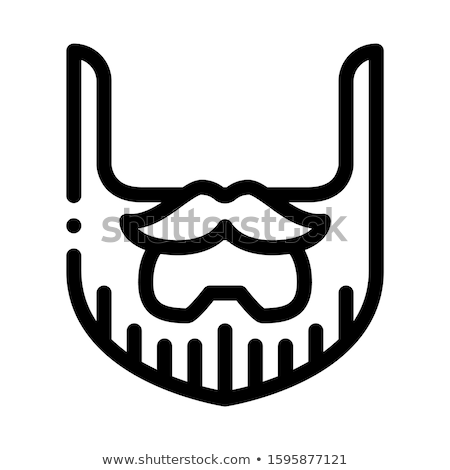 Beard Mustache Whisker Icon Outline Illustration Stock photo © pikepicture