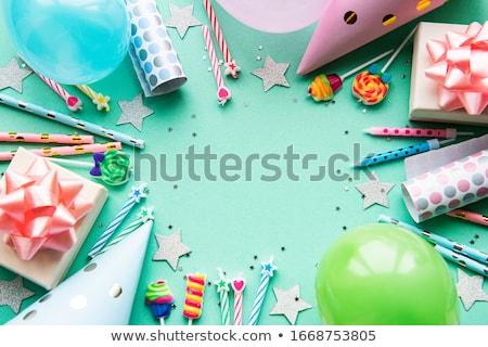 Boldog születésnapot üdvözlőlap ünnepi kúp kalap vektor Stock fotó © robuart